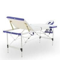 Массажный стол складной алюминиевый JFAL01A (3-х секционный) (РА3.20.13А-00)