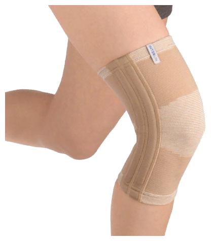 Бандаж компрессионный на коленный сустав бежевый (РК К05)