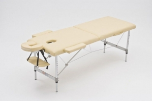 Стол массажный складной алюминиевый JFAL01A (2-х секционный)