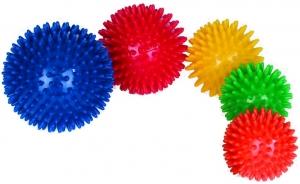 Массажный мяч резиновый с шипами