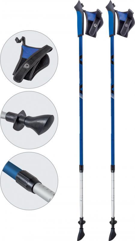 Палки для скандинавской ходьбы ECOS телескопические, AQD-B020 blue