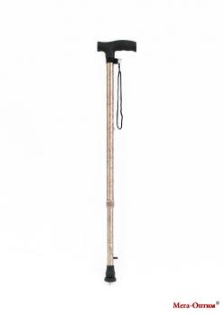 Трость телескопическая с прямой пластмассовой ручкой ТР1 (ПР) золотая осень