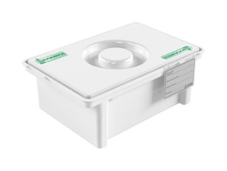 Емкость-контейнер полимерный п/п для дезинфекции и предстерилизационной обработки мед. изделий ЕДПО-3-02-2