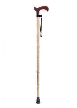 Трость телескопическая с пластмассовой ручкой Дерби ТР1 (ПР) золотая осень