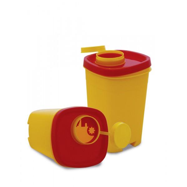 Ёмкость-контейнер для сбора острого инструмента 1л желтый шт