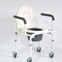Кресло инвалидное FS813 с санитарным оснащением на 4-х колесах